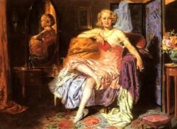 Girl In Boudoir
