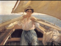 A Young Man In A Boat