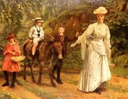 A Donkey Ride Along A Woodland Path