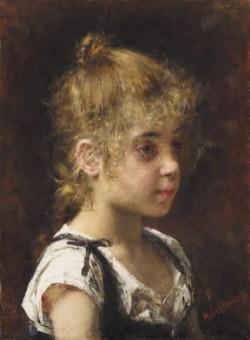 Harlamoff Alexej Portrait of a Young Girl
