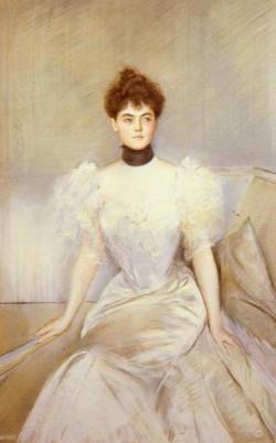 Portrait Of Lady With A Fan