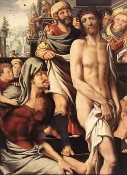 Christ carrying the cross detail 1 1553 christian museu