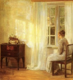 Danish 1863 to 1935 Waiting By The Window O C 73 by 667cm