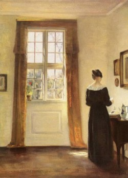 Danish 1863 to 1935 Woman In Interior O C 794 by 586cm