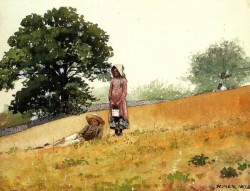 Boy and Girl on a Hillside