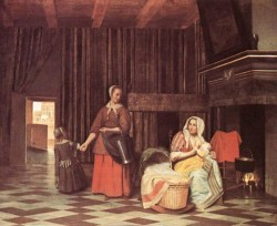 Suckling Mother and Maid
