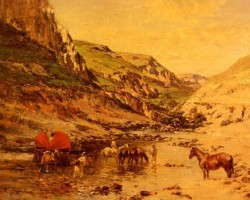 Pierre Arabs Resting In A Gorge