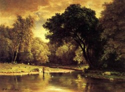Fisherman in a Stream