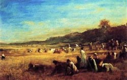 Study for The Cranberry Harvest Island of Nantucket 1879