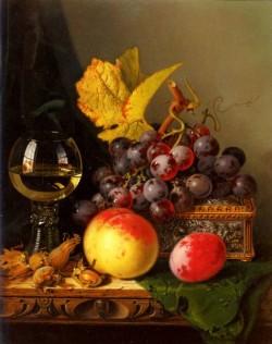 A Still Life Of Black Grapes