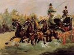 Alphonse de Toulouse Lautrec Driving His Four in Hand 1880