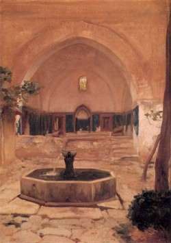 Courtyard of a Mosque at Broussa 1867 363x264cm