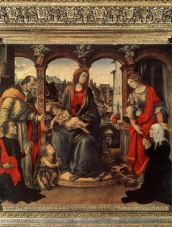 Madonna with Child and Saints c1488