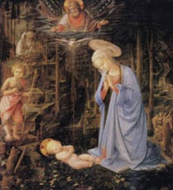 The adoration with the infant Baptist and St