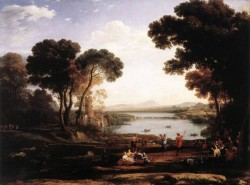 CLAUDE Lorrain Landscape with Dancing Figures The Mill