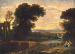 CLAUDE Lorrain Landscape with the Rest on the Flight into Egypt 1666