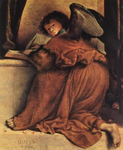 Madonna and Child with Saints 1521 detail1
