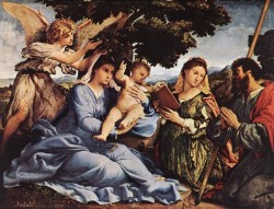 Madonna and Child with Saints and an Angel 1527 8