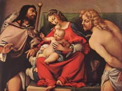 Madonna with the Child and Sts Rock and Sebastian c1522