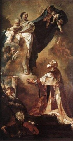 The virgin appearing to st philip neri 1725 xx santa maria della consolazione fava venice