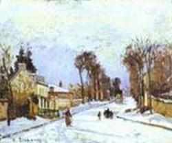 La route de versailles a louveciennes effet de neige 1869 xx baltimore md usa