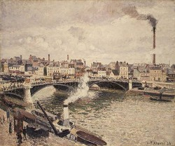 Pissarro Morning An Overcast Day Rouen 1896