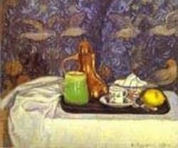 Still life with a coffee pot nature morte la cafetiere 1900 xx st petersburg russia