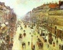 The boulevard montmartre on a cloudy morning 1897 xx melbourne australia