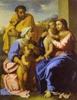Holy family with john the baptist and st elizabeth 1644 66 xx st petersburg russia