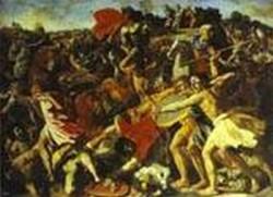 The battle of joshua with amalekites 2 1625 xx st petersburg russia