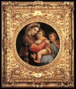 Madonna della Seggiola framed