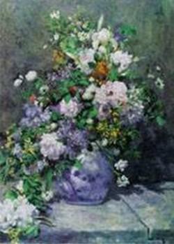 Great vase of flowers