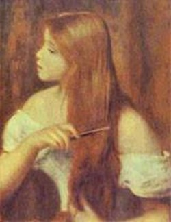 Young girl combing her hair 1894 xx private collection