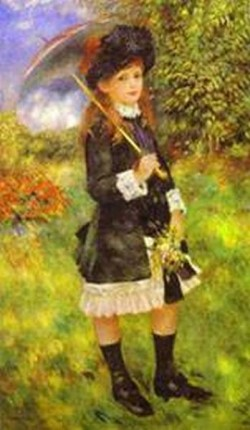Young girls with parasol aline nunes 1883 xx private collection