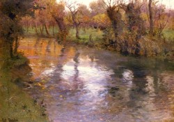 An Orchard On The Banks Of A River