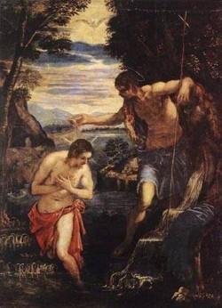 Baptism of christ xx museo del prado madrid