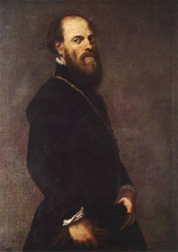 Tintoretto Man with a Golden Lace