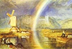 Arundel castle with rainbow 1824 xx british museum london uk