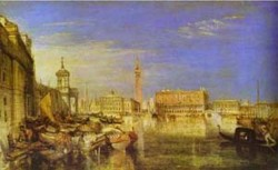 Bridge of signs ducal palace and custom house venice canaletti painting 1833 xx tate gallery london uk