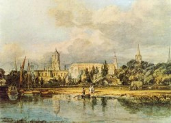 South View of Christ Church etc from the Meadows