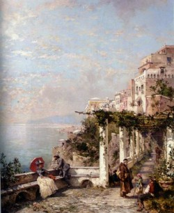 Franz Richard Unterberger Die Amalfi Kuste The Amalfi Coast