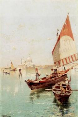 Sailboat In A Venetian Lagoon