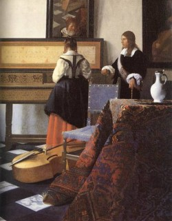 Vermeer A Lady at the Virginals with a Gentleman detail1