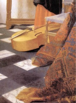 Vermeer A Lady at the Virginals with a Gentleman detail3