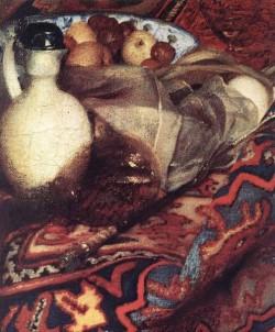 Vermeer A Woman Asleep at Table detail3