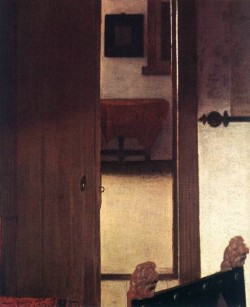 Vermeer A Woman Asleep at Table detail4