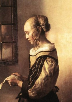 Vermeer Girl Reading a Letter at an Open Window detail1