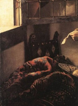 Vermeer Girl Reading a Letter at an Open Window detail2
