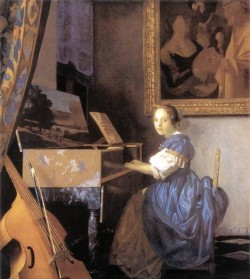 Vermeer Lady Seated at a Virginal