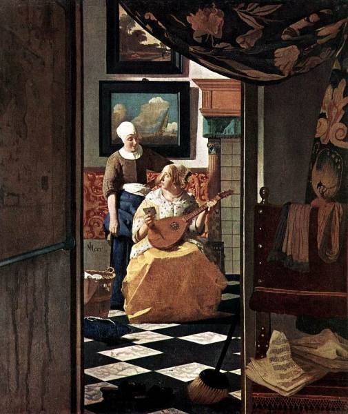 Vermeer The Love Letter by Johannes Vermeer